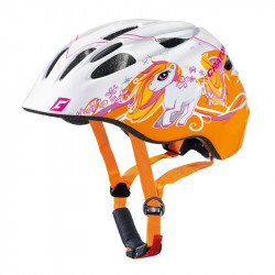 Casque enfant CRATONI Akino - Orange et blanc