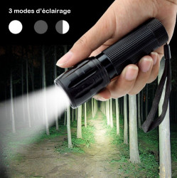 lampe de poche LED torche 2000 Lm + support