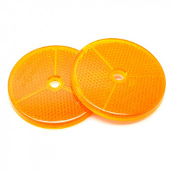 2 Catadioptres ronds orange 80 mm