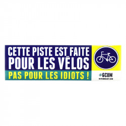 Sticker Pistes cyclables 2017