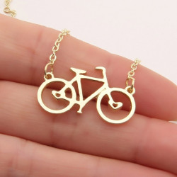 Collier Vintage bicyclette OR