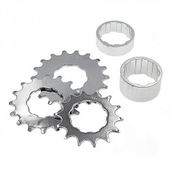 Kit single speed avec pignons 14, 16 et 18 dents