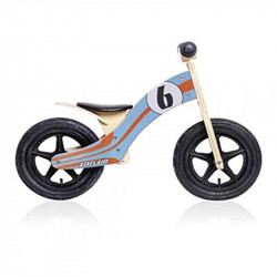 Draisienne en bois 12 pouces orange et bleue Wood Air Rebel Kidz
