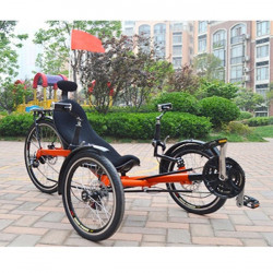 Tricycle couché 24 vitesses pour adulte